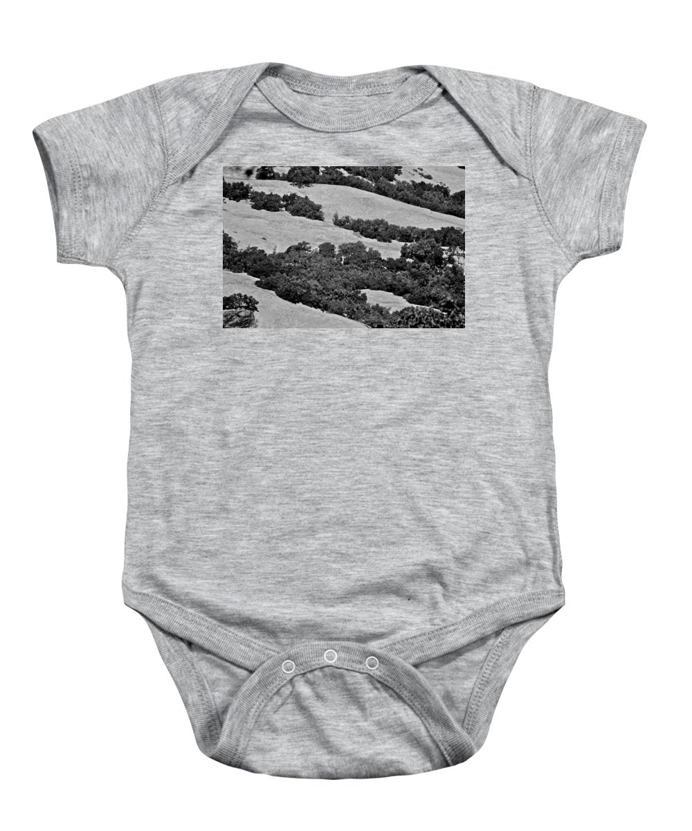 California Baby Onesie featuring the photograph California Hillside Oaks by Eric Tressler