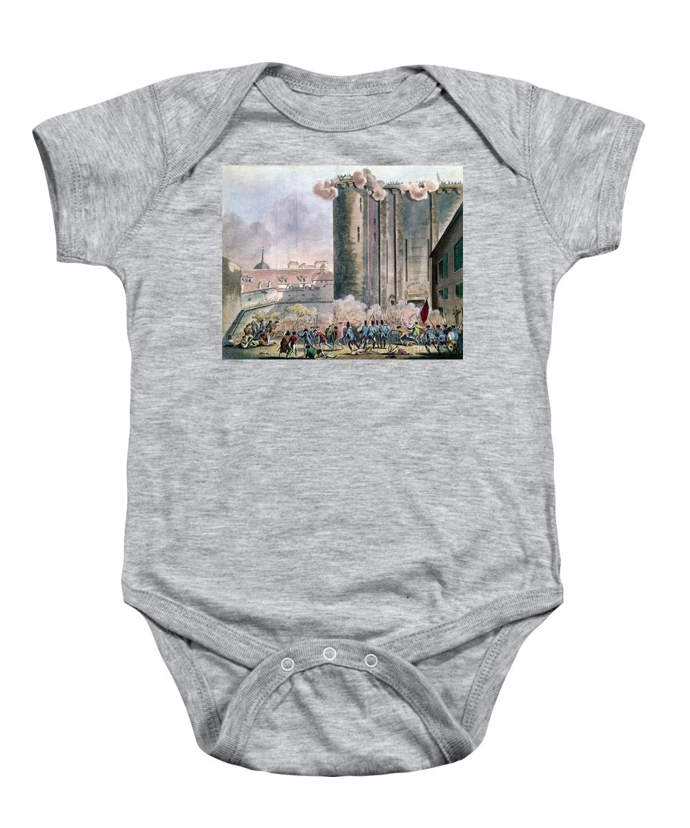 1789 Baby Onesie featuring the photograph Capture Of The Bastille by Granger