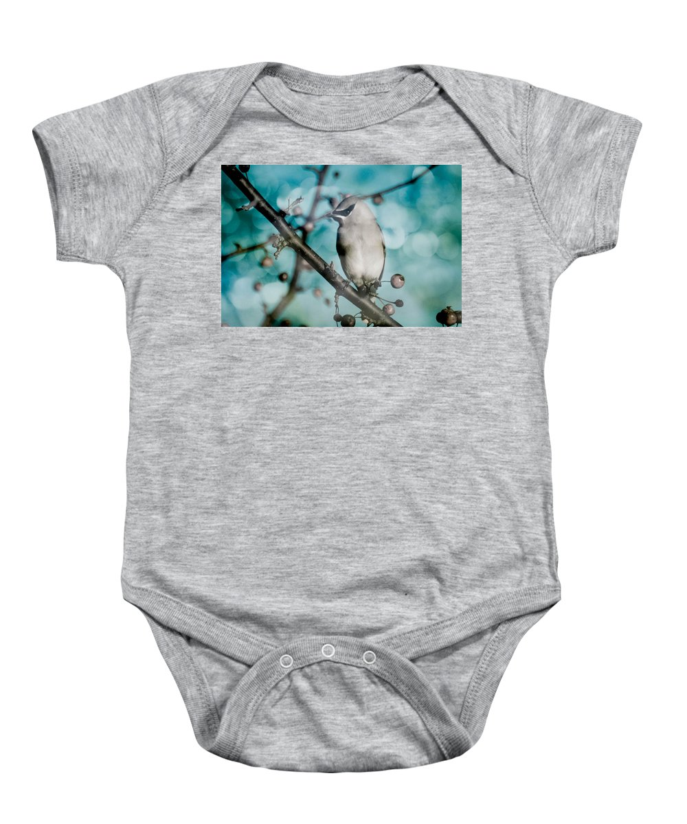 Bird Baby Onesie featuring the photograph Catch The Bandit by Trish Tritz