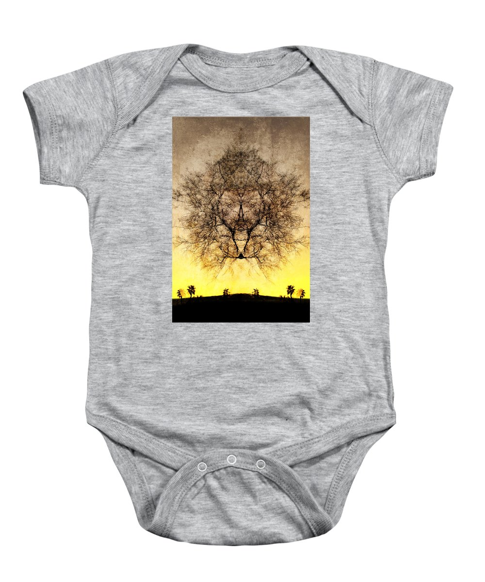 Celestial Baby Onesie featuring the photograph Celestial Sunrise by Jay Hooker