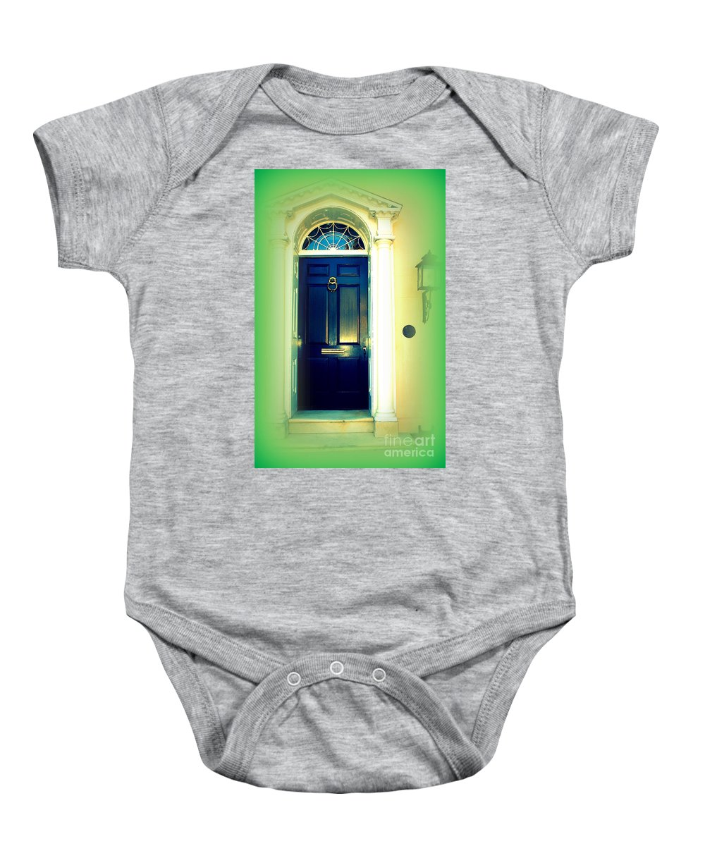 Charleston Baby Onesie featuring the photograph Charleston Door 5 by Susanne Van Hulst
