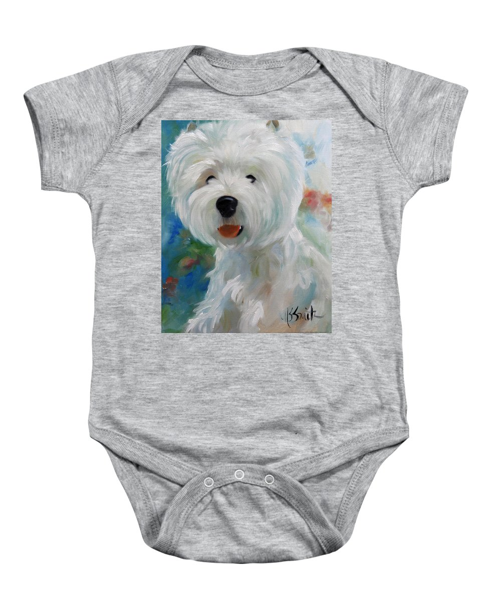 Art Baby Onesie featuring the painting Cherubino by Mary Sparrow