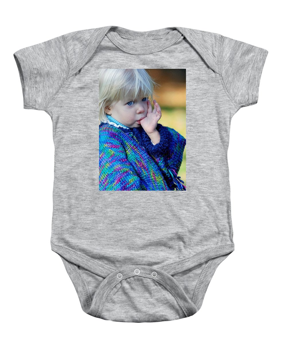 People Baby Onesie featuring the photograph Childhood by Lisa Phillips