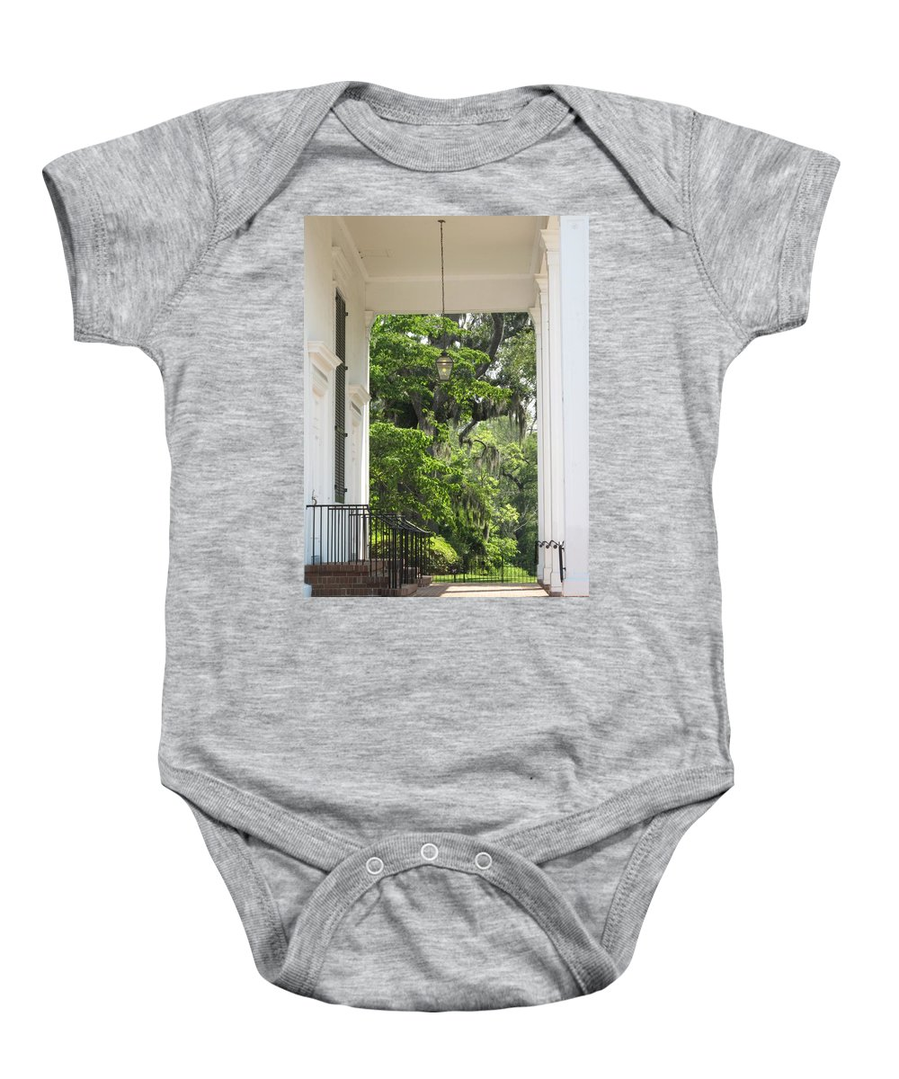 Church Baby Onesie featuring the photograph Church Entrance by Michele Nelson