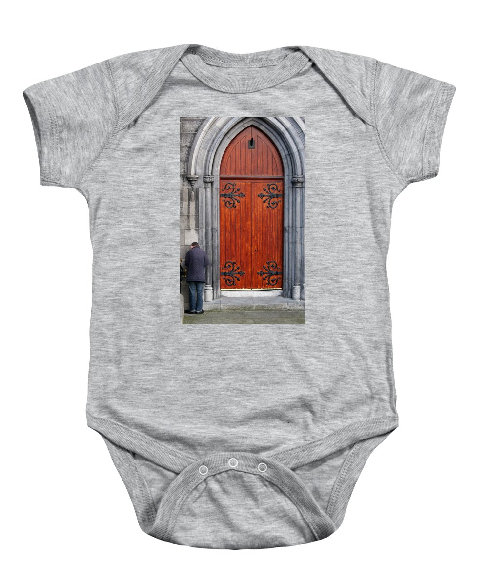 Dublin Baby Onesie featuring the photograph City 0025 by Carol Ann Thomas