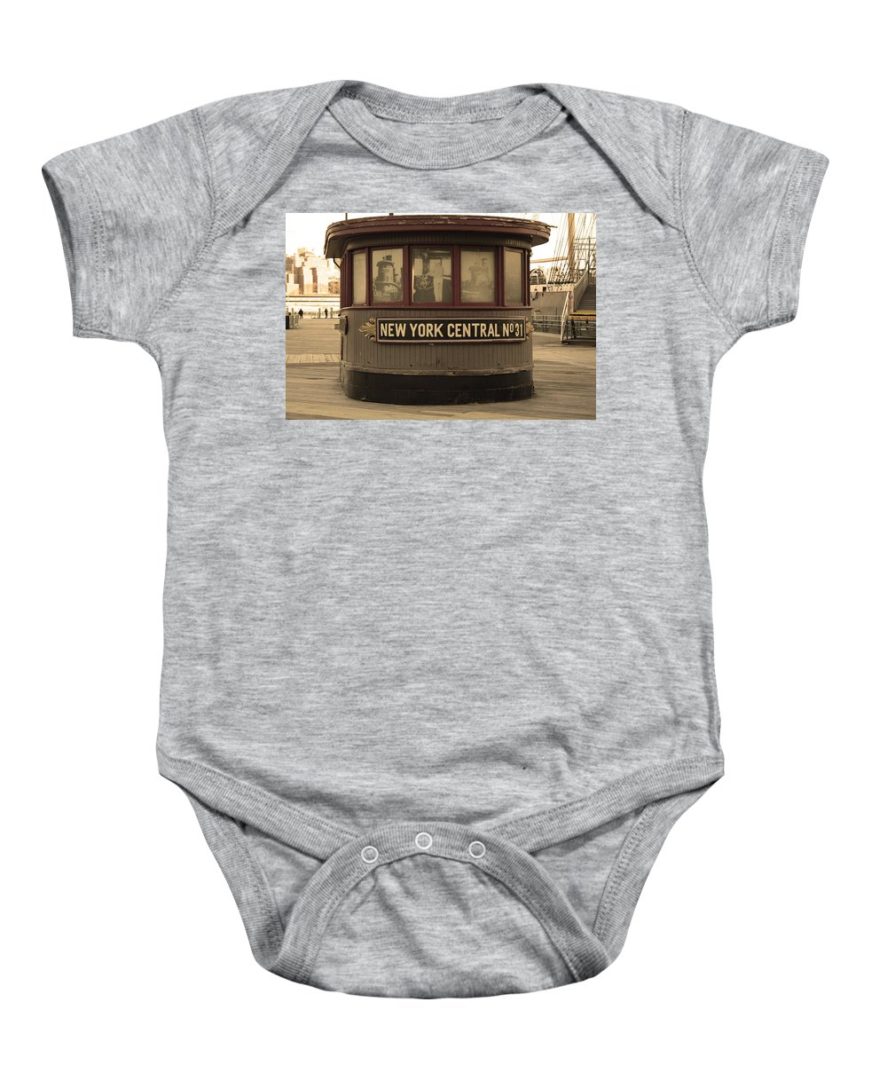 City Baby Onesie featuring the photograph City 0054 by Carol Ann Thomas