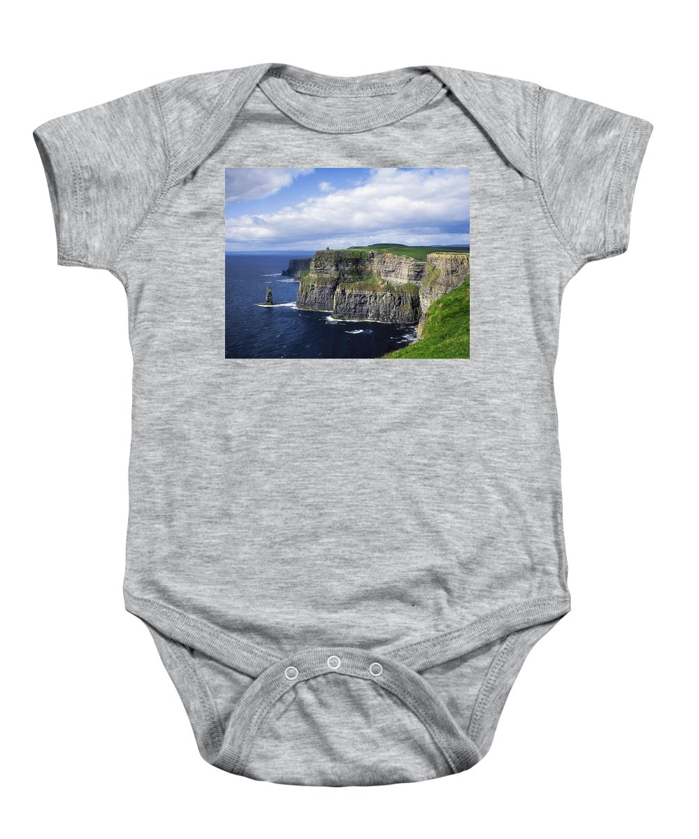 Blue Sky Baby Onesie featuring the photograph Cliffs Of Moher, Co Clare, Ireland by The Irish Image Collection