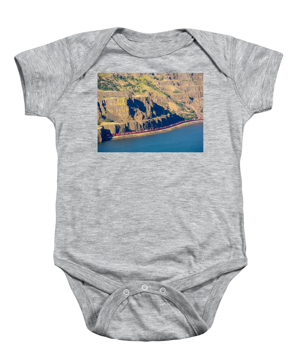 Columbia River Gorge Baby Onesie featuring the photograph Columbia River Gorge by Mike Penney