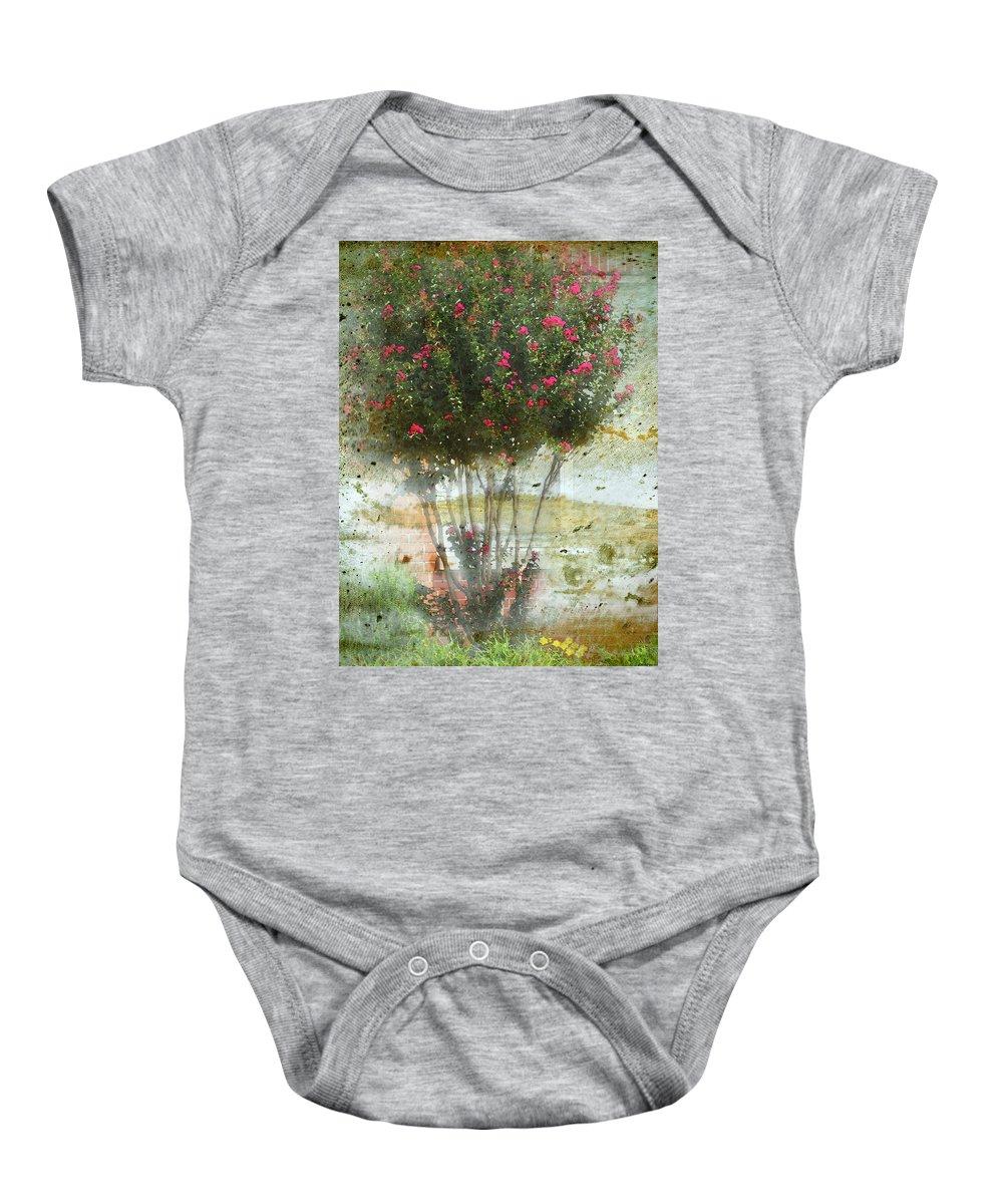 Nature Baby Onesie featuring the digital art Crape Myrtle by Debbie Portwood