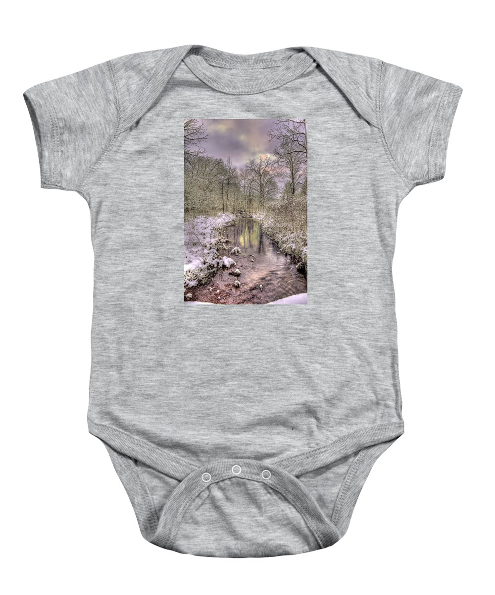 Landscape Baby Onesie featuring the photograph Crooked Creek by Mark Six