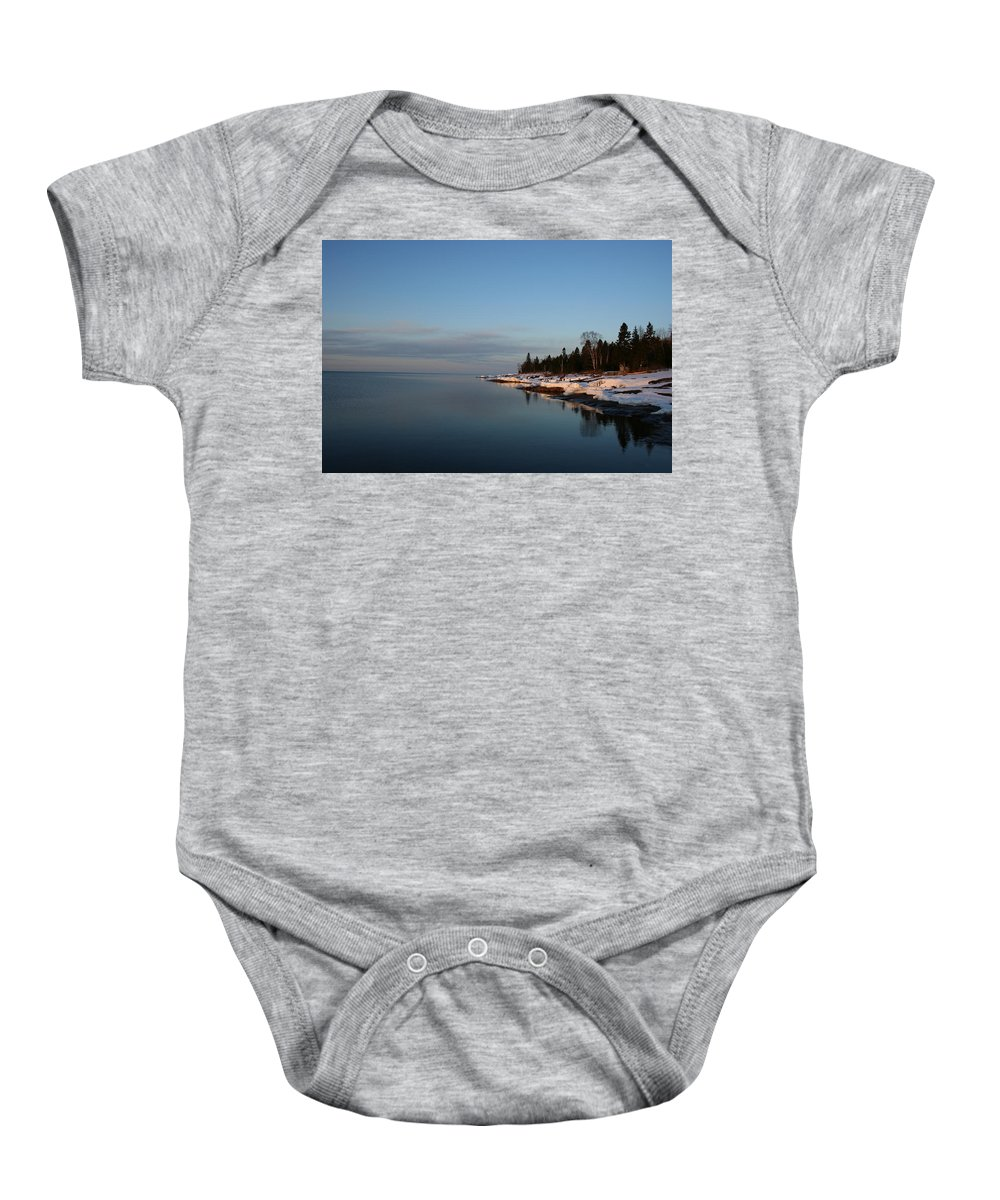 Baby Onesie featuring the photograph Dead Calm by Joi Electa
