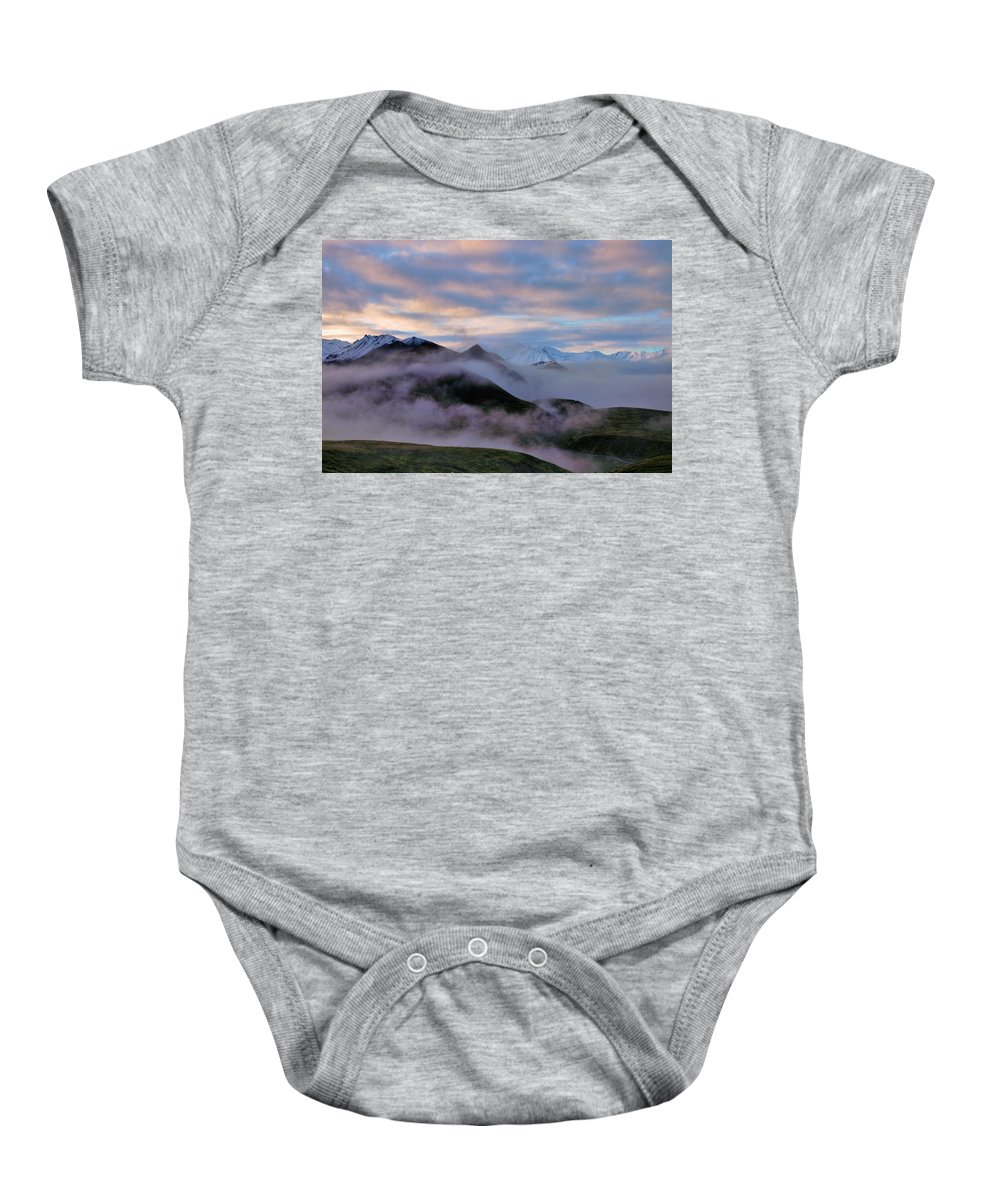 Denali National Park Baby Onesie featuring the photograph Denali Dawn by Rick Berk