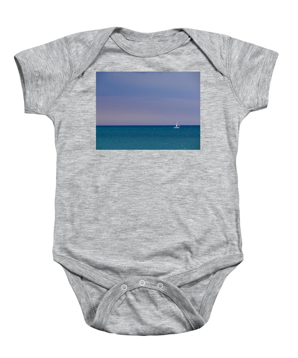 Lake Michigan Baby Onesie featuring the photograph Desiderata by Julia Wilcox