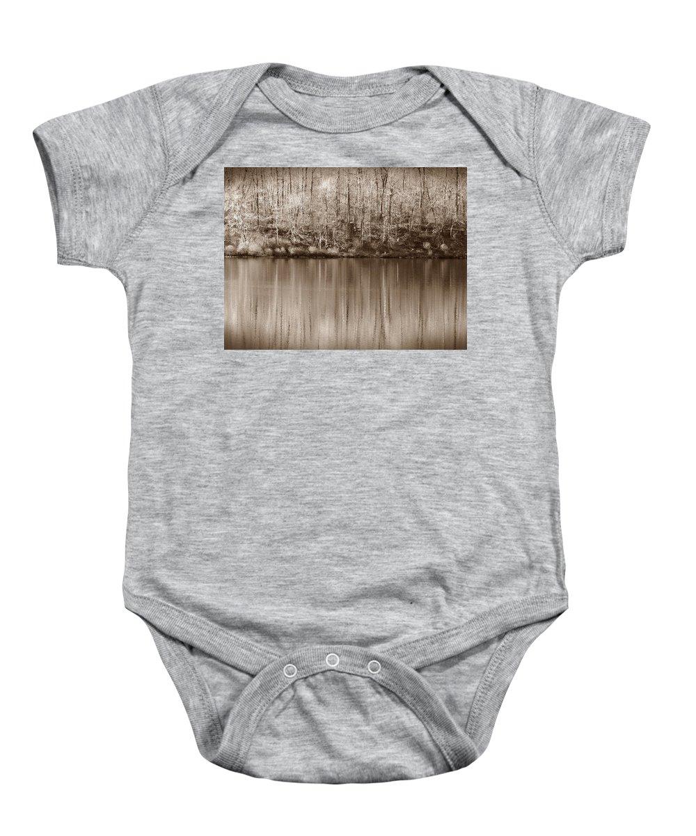 Rickets Glen Baby Onesie featuring the photograph Desolate Splendor S by David Dehner