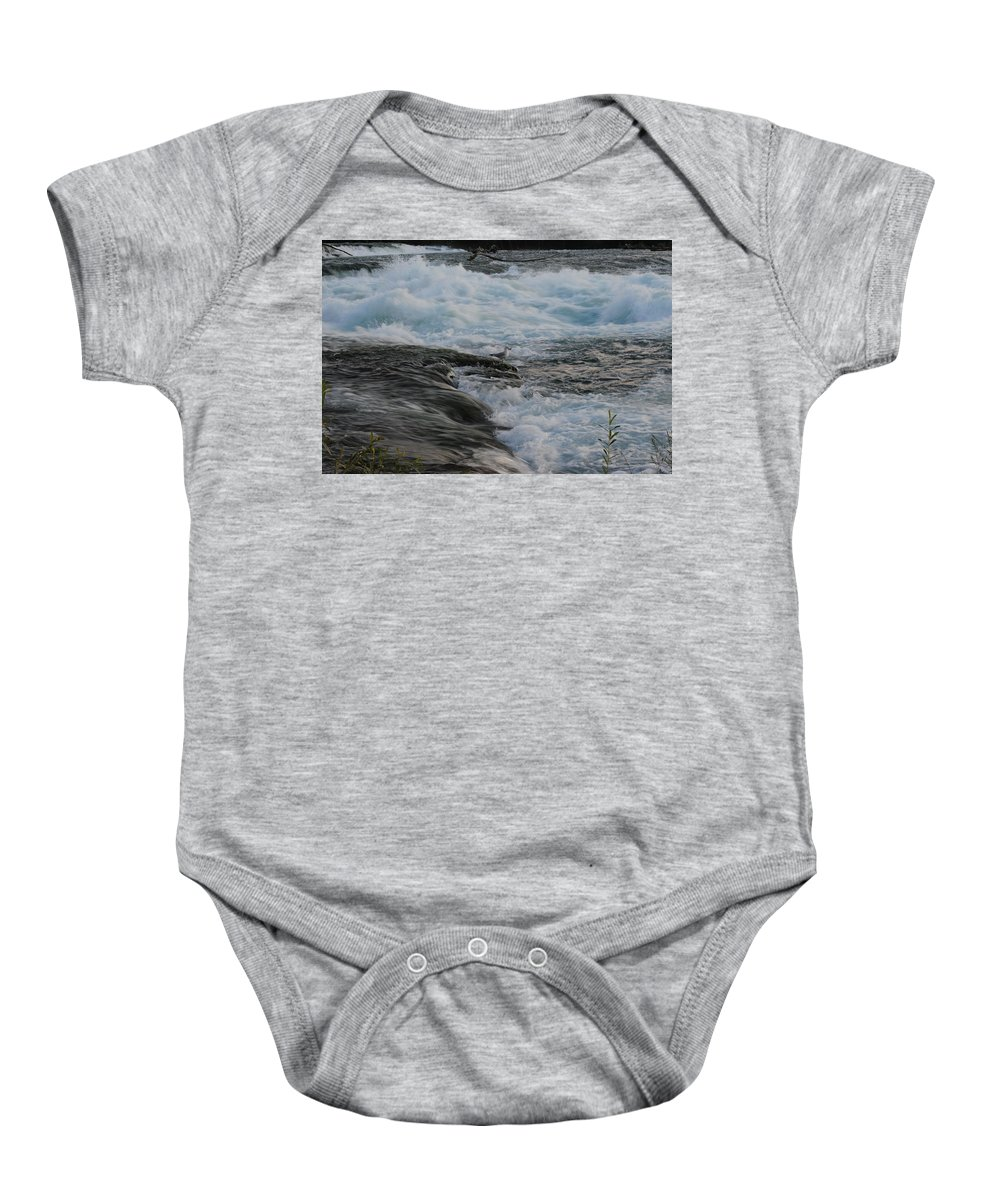 Baby Onesie featuring the photograph Desperate Times by Michael Frank Jr