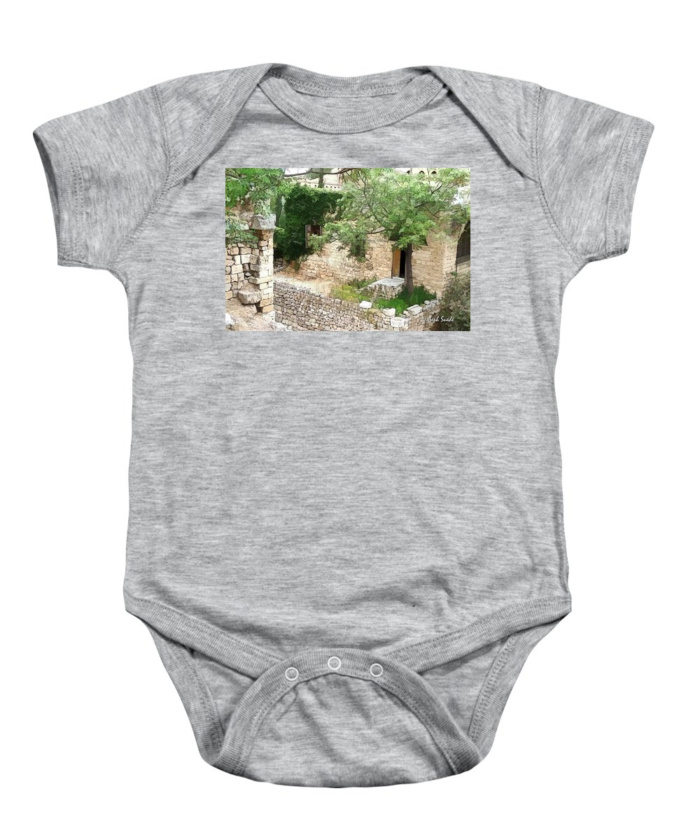 Baby Onesie featuring the photograph Do-00486 Old House From Citadel by Digital Oil