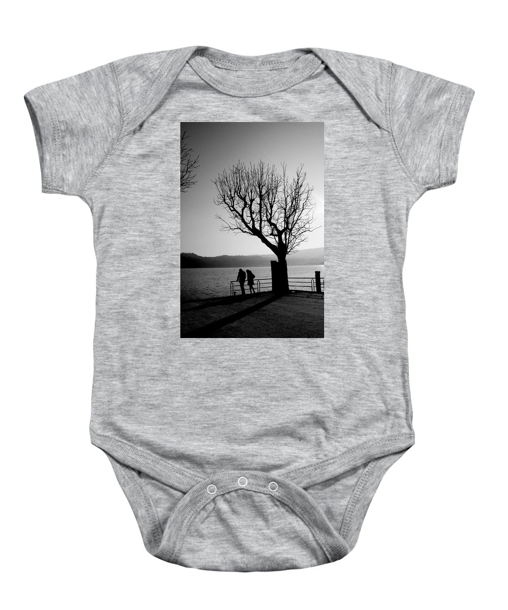 Baby Onesie featuring the photograph Dreaming In Front Of The Lake by Donato Iannuzzi