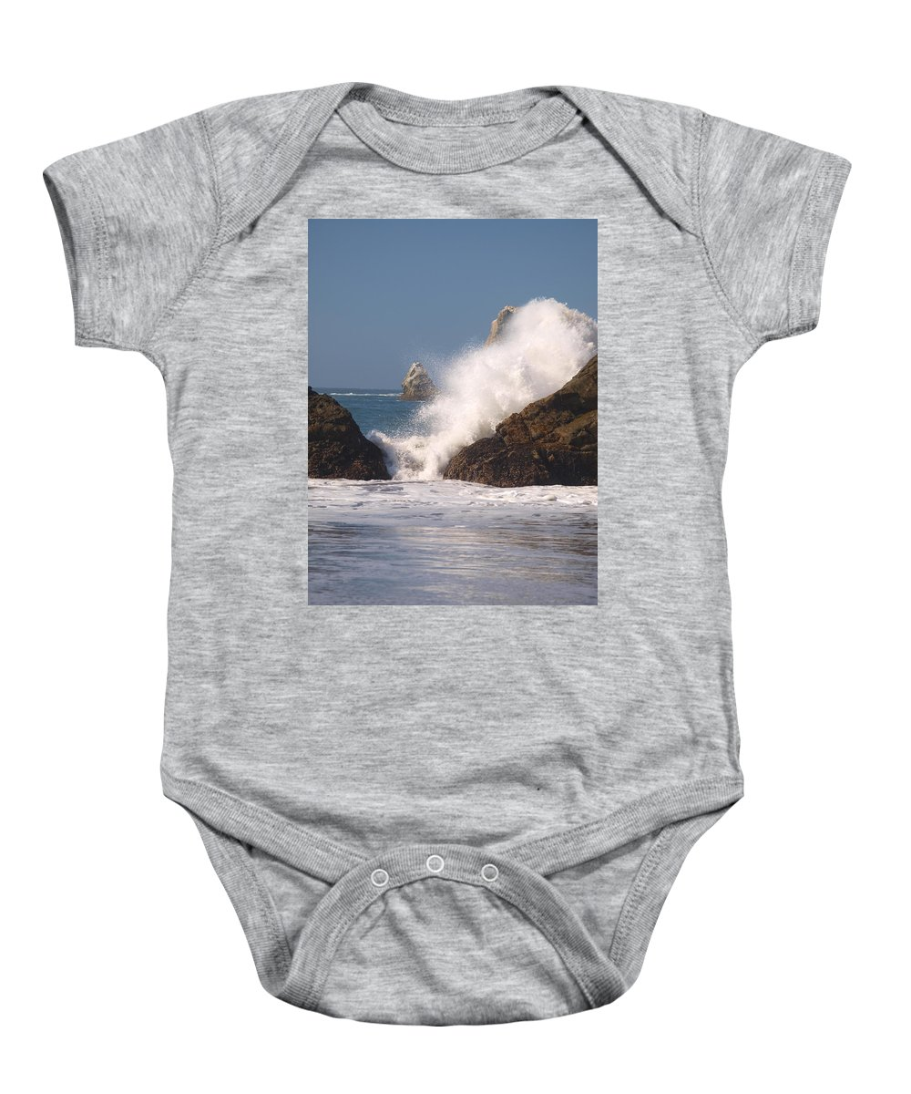 Water Baby Onesie featuring the photograph Earth Vs. Water by Teri Schuster