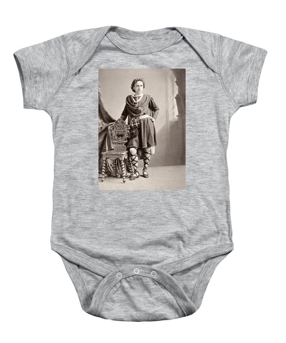 19th Century Baby Onesie featuring the photograph Edwin Booth (1833-1893) by Granger