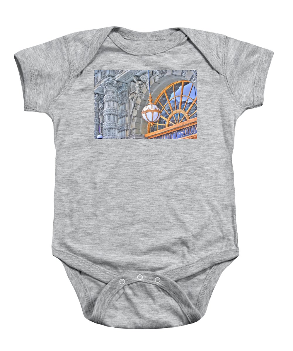 Baby Onesie featuring the photograph Ellicott Square Building by Michael Frank Jr