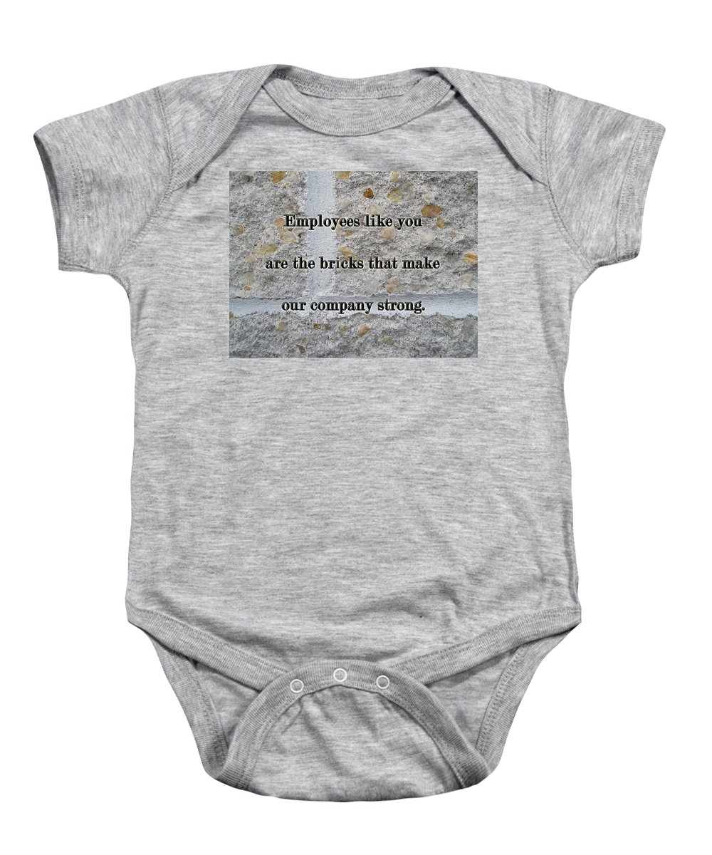 Employee Baby Onesie featuring the photograph Employee Service Anniversary Thank You Card - Cement Wall by Mother Nature