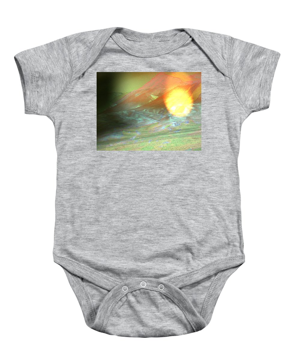 Abstract Baby Onesie featuring the photograph Essence Of Wyoming-spring Summer Fall by Lenore Senior