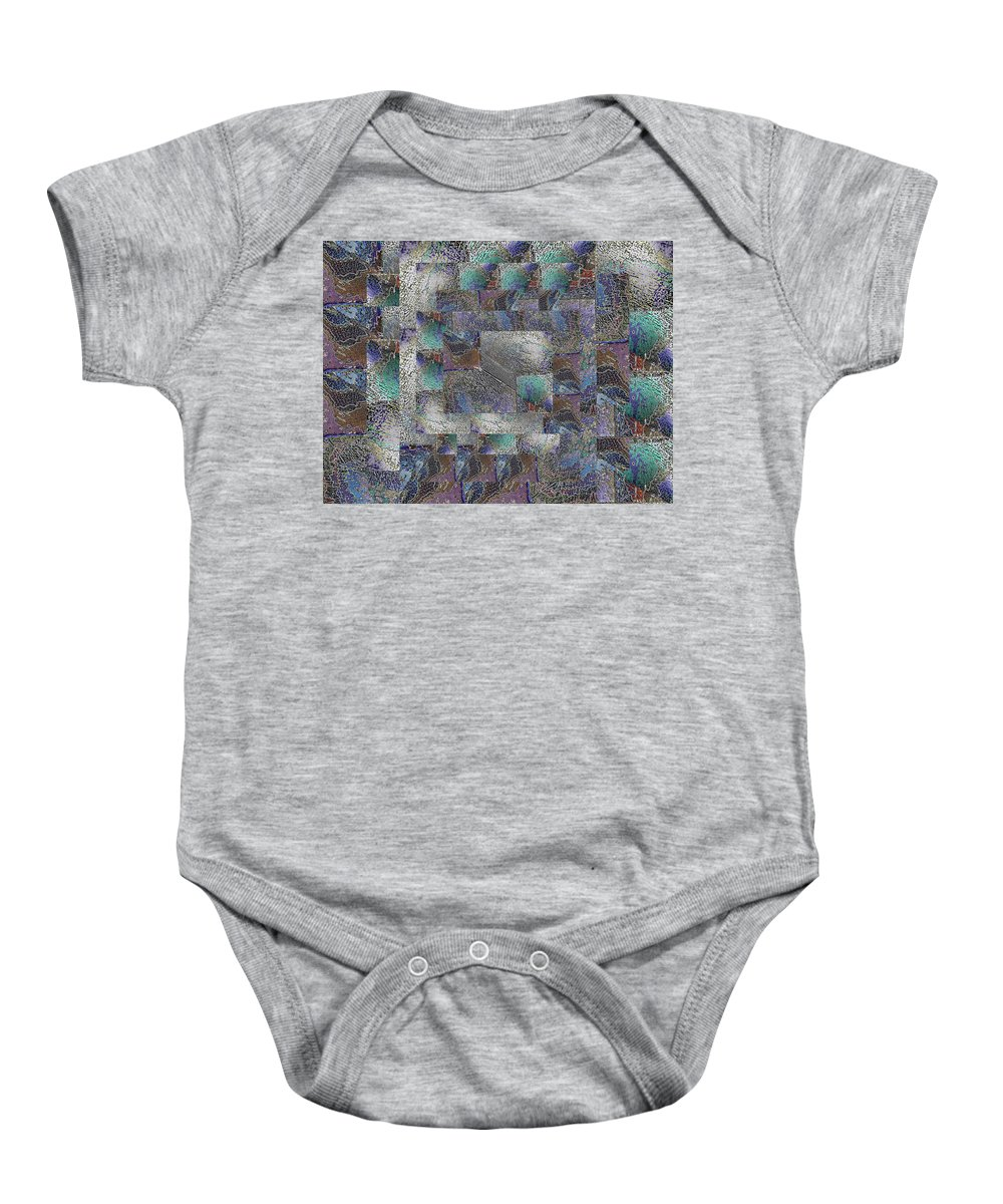 Abstract Baby Onesie featuring the digital art Facade 14 by Tim Allen