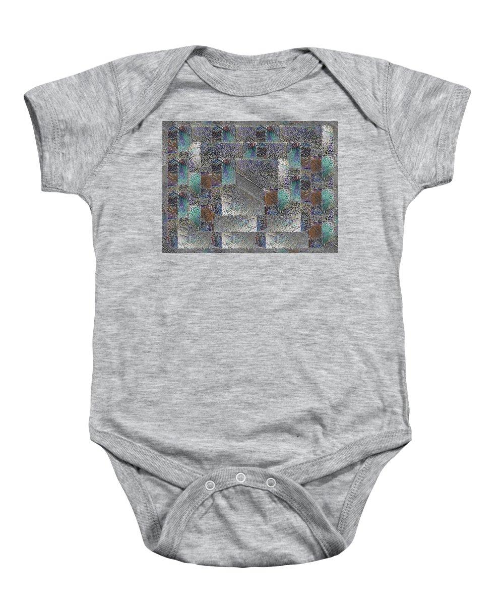 Abstract Baby Onesie featuring the digital art Facade 16 by Tim Allen