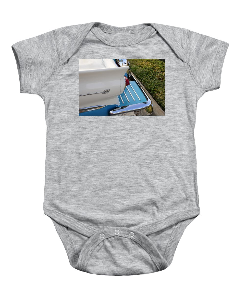 Fine Art Photography Baby Onesie featuring the photograph Fairlane 500 by David Lee Thompson