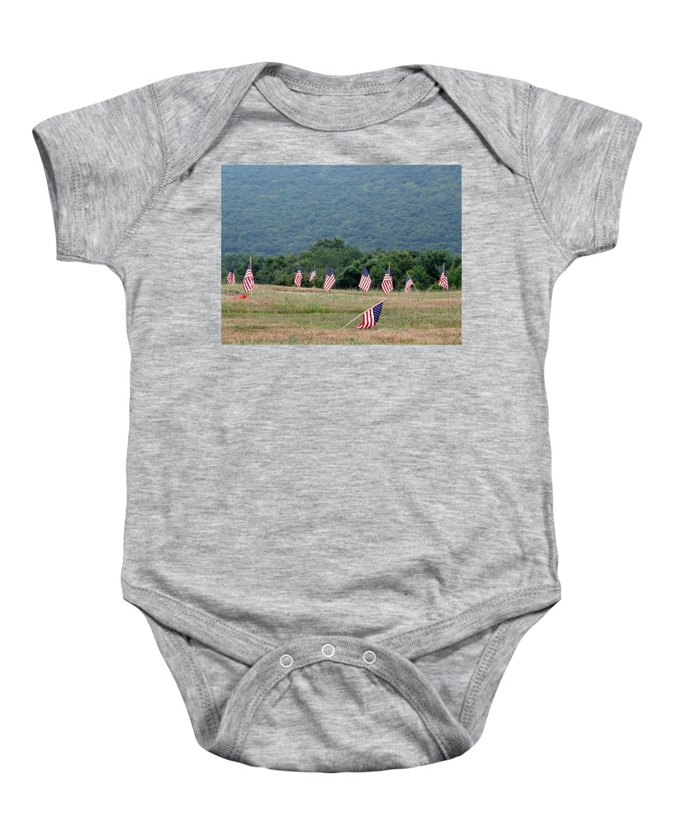 Graves Baby Onesie featuring the photograph Fallen Soliders by Michele Nelson