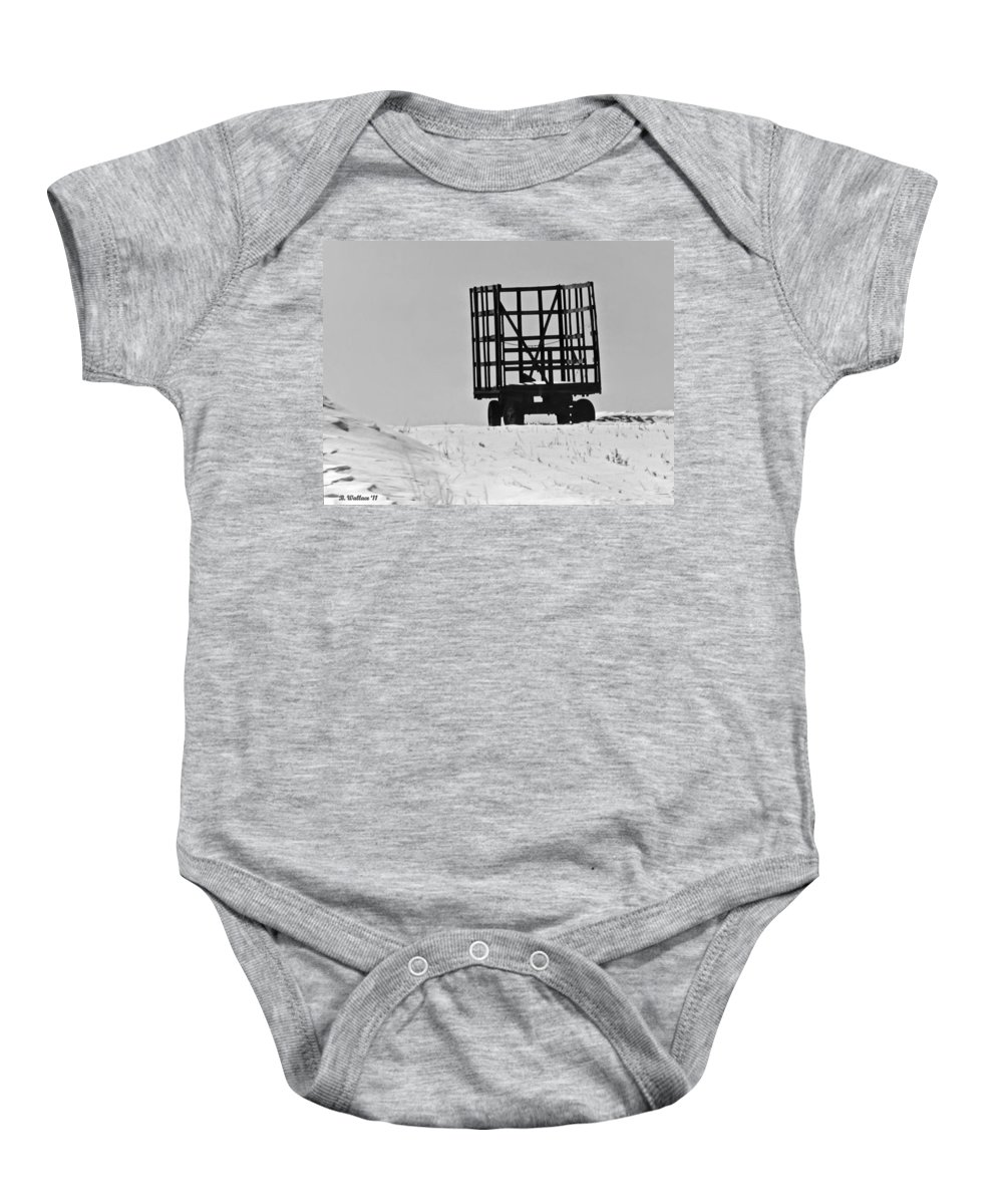 2d Baby Onesie featuring the photograph Farm Wagon by Brian Wallace