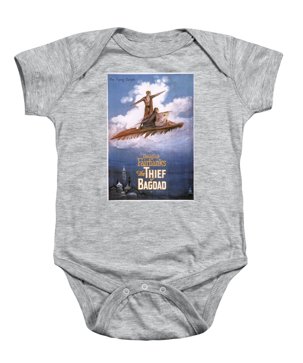 -nec05- Baby Onesie featuring the photograph Film: The Thief Of Bagdad: by Granger