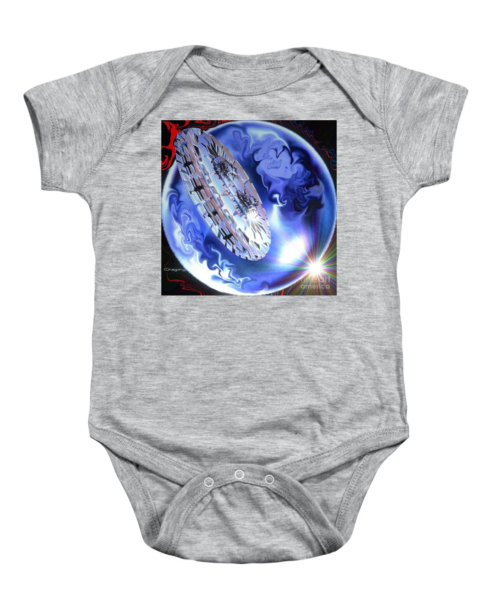 Space Baby Onesie featuring the digital art Final Approach by Greg Moores