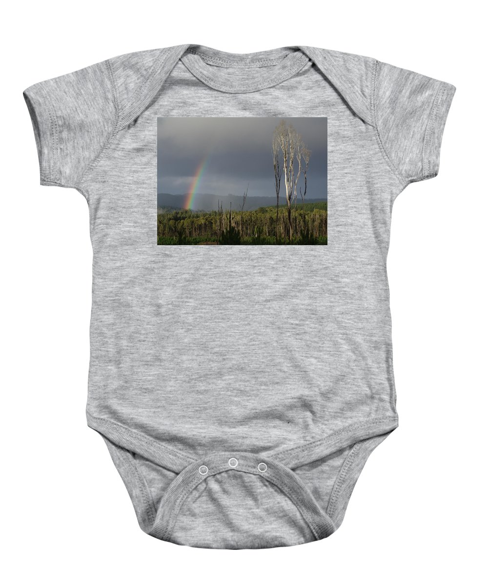 Rainbow Baby Onesie featuring the photograph Fire Rainbow by Ian Mcadie