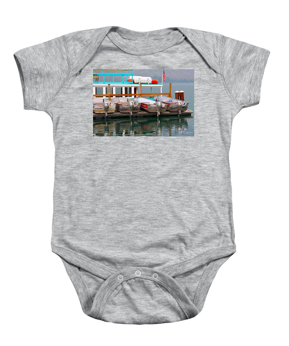 Honda Baby Onesie featuring the photograph Fishing Boats by Karon Melillo DeVega