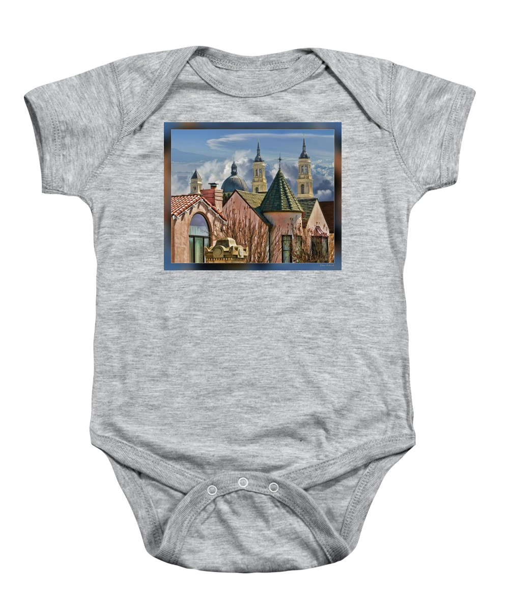 Art Photography Baby Onesie featuring the photograph Five Steples by Blake Richards