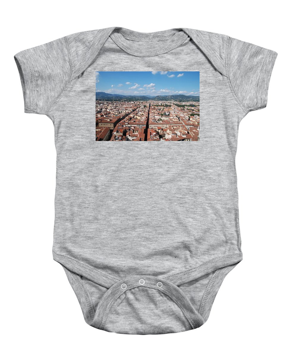 Florence Baby Onesie featuring the photograph Florence From The Duomo by Dany Lison