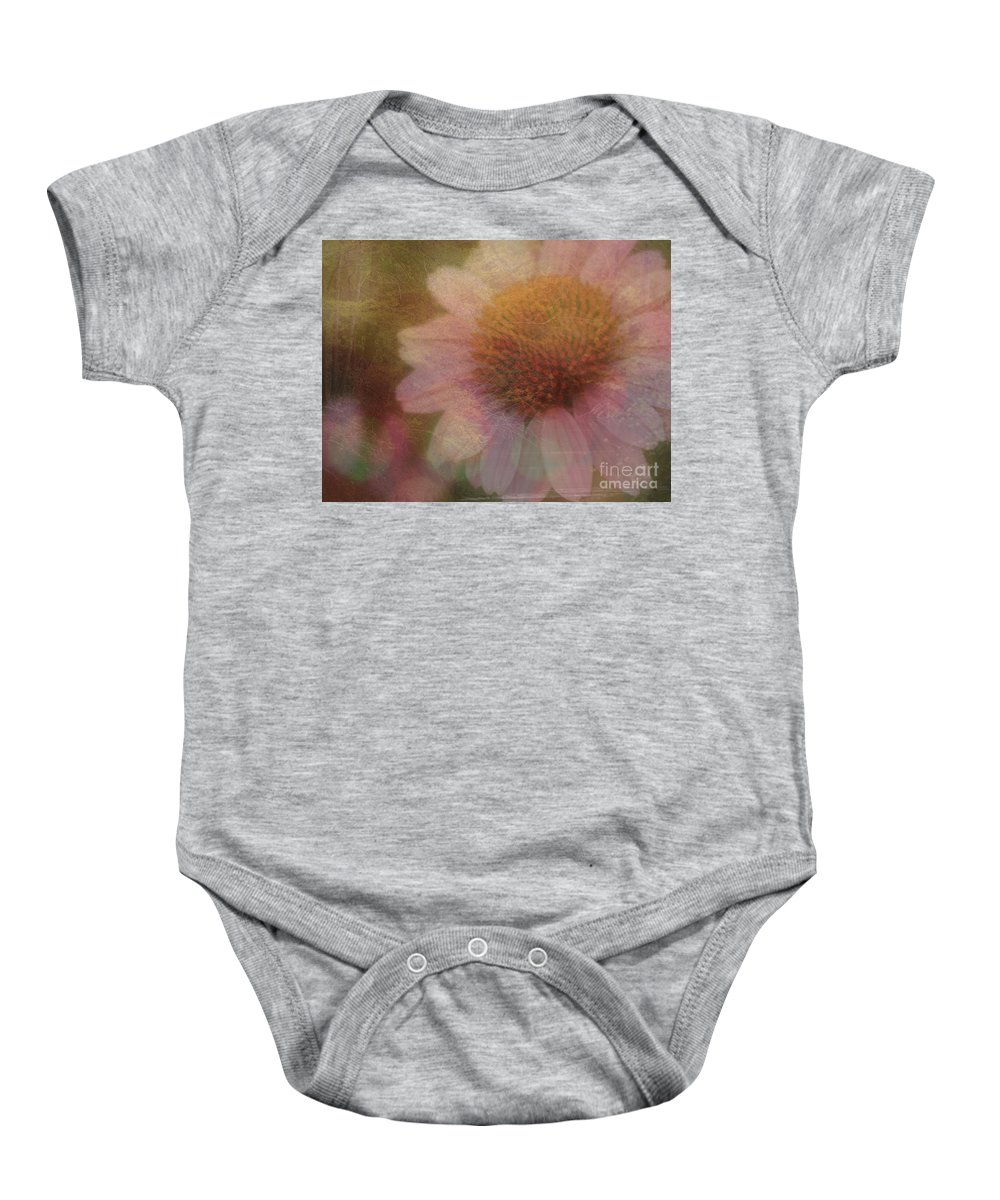 Daisy Baby Onesie featuring the mixed media Flower Paper by Kim Henderson