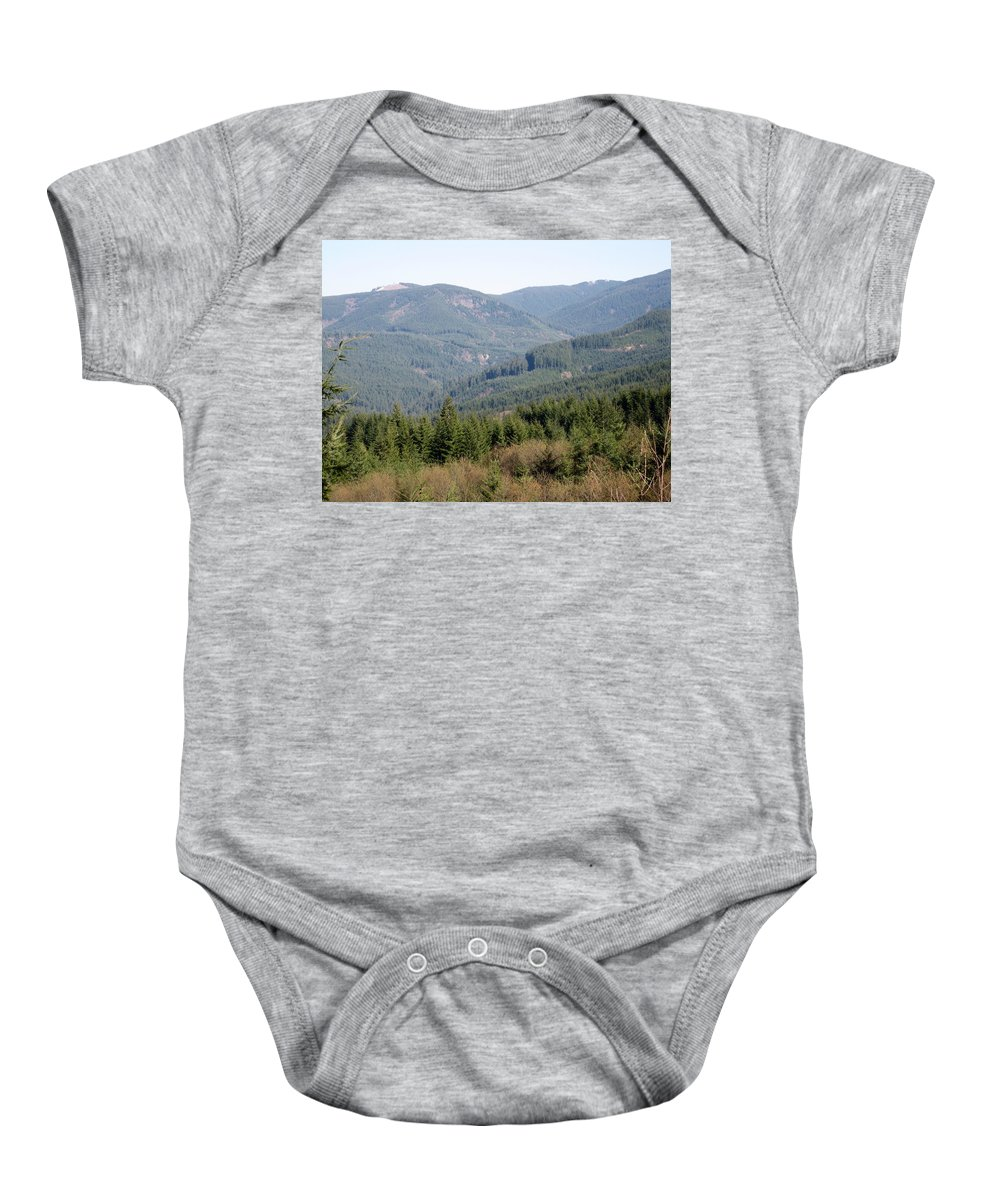 Foothills Baby Onesie featuring the photograph Foothills by Linda Hutchins
