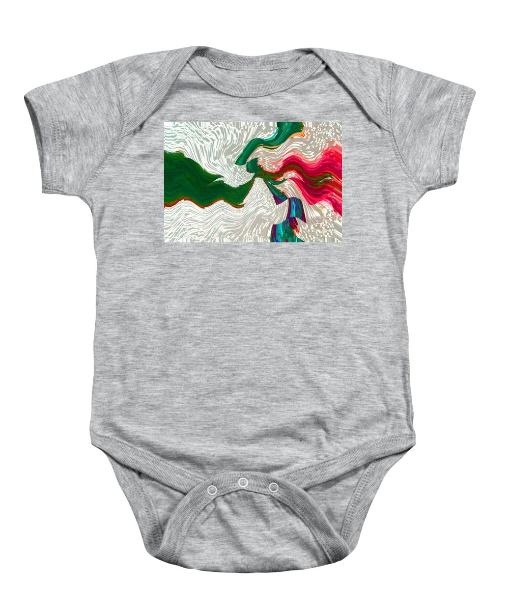Abstract Baby Onesie featuring the digital art For All Historys Sacrificial Lambs by Lenore Senior