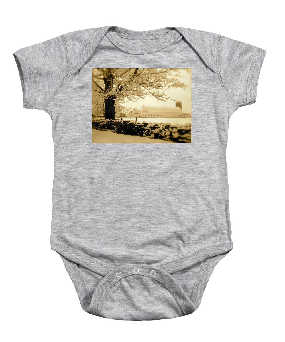 Landscape Baby Onesie featuring the photograph Forrestel Farm by Arthur Barnes