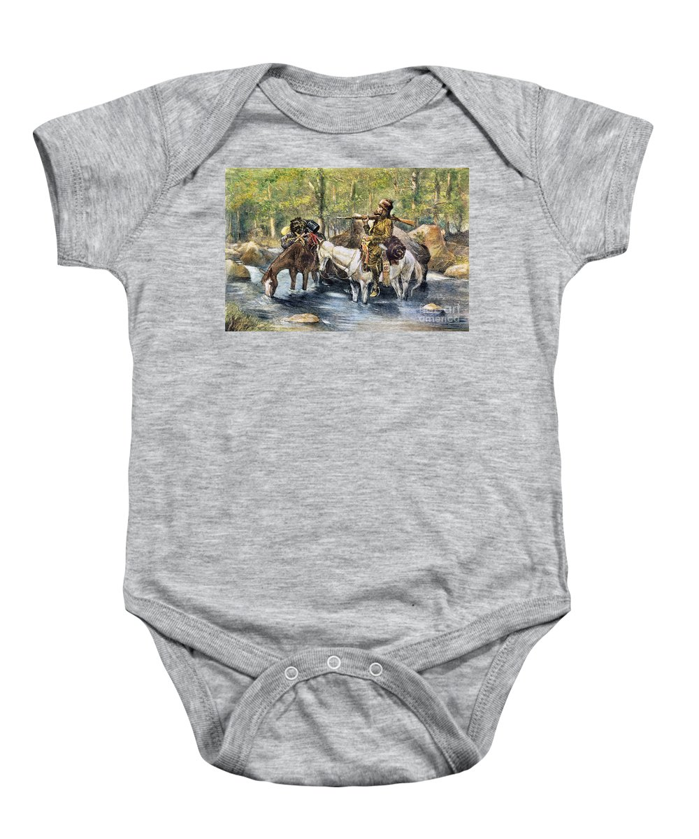 19th Century Baby Onesie featuring the photograph Fur Trapper by Granger