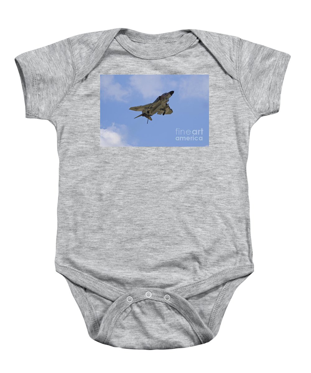 F-4 Baby Onesie featuring the photograph Gear Down Hook Down by Tim Mulina