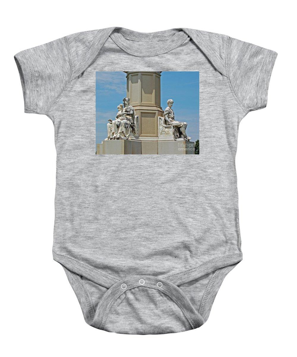 Gettysburg Baby Onesie featuring the photograph Gettysburg Memorial by Stephen Whalen
