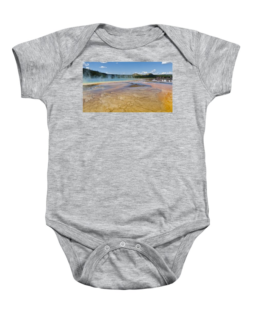 Yellowstone National Park Baby Onesie featuring the photograph Grand Prismatic Spring II by Jon Berghoff
