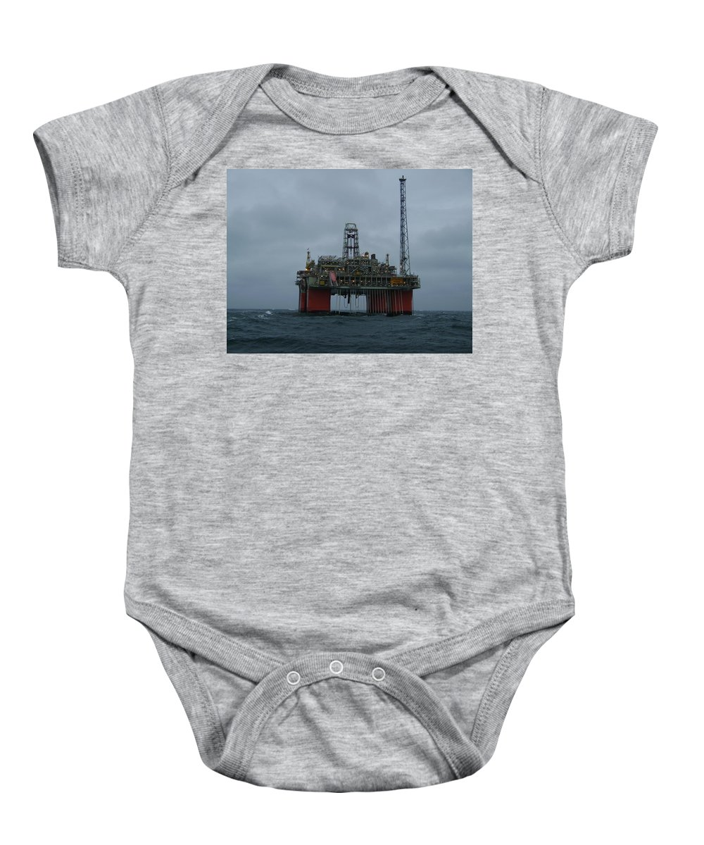 Photograph Baby Onesie featuring the photograph Grey Day At Snorre by Charles and Melisa Morrison