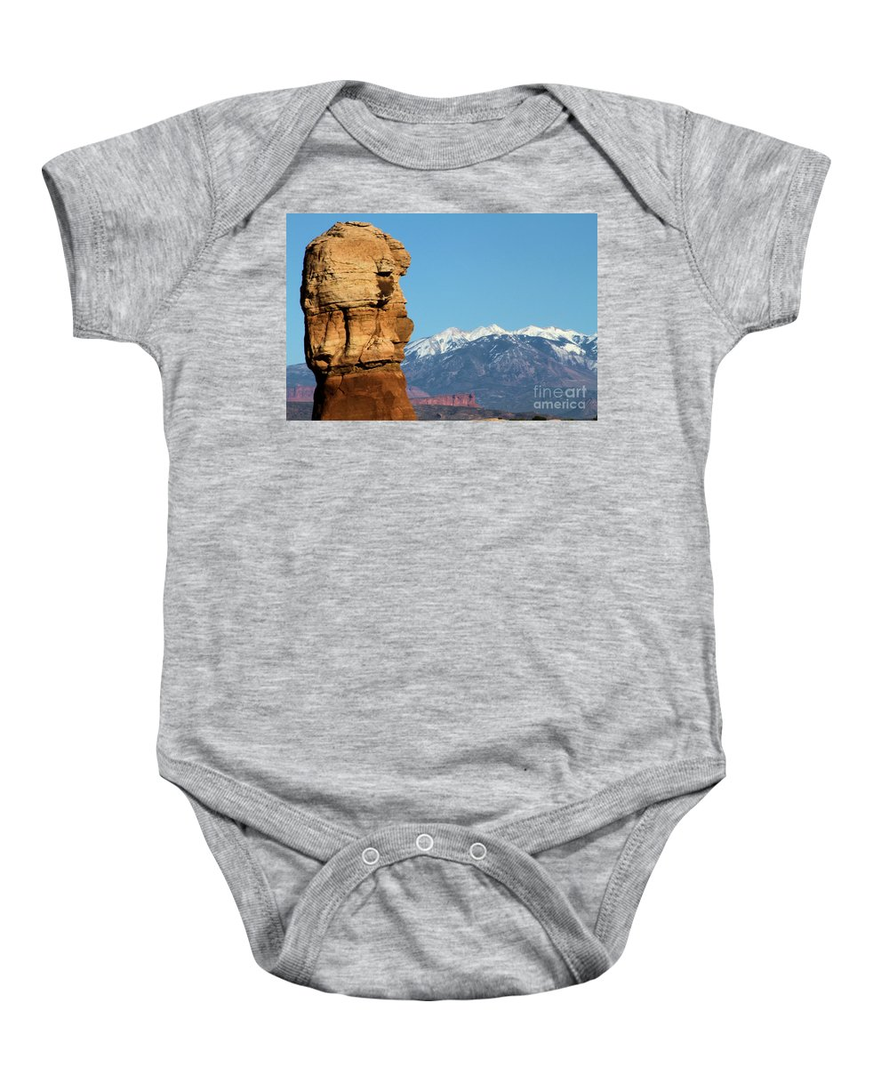 Arches National Park Baby Onesie featuring the photograph Guardian Of Arches by Adam Jewell