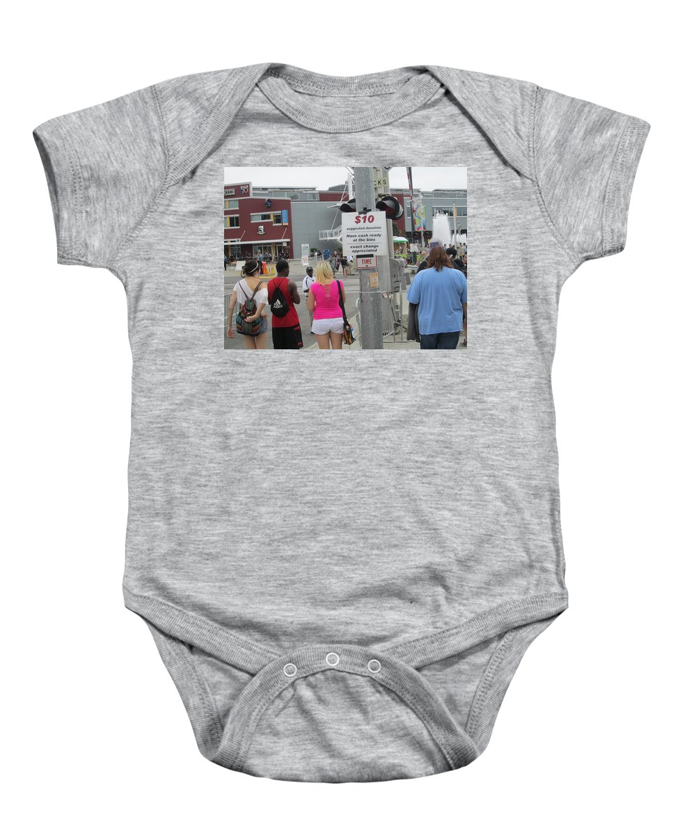 Train Lights Baby Onesie featuring the photograph Have Cash Ready by Kym Backland
