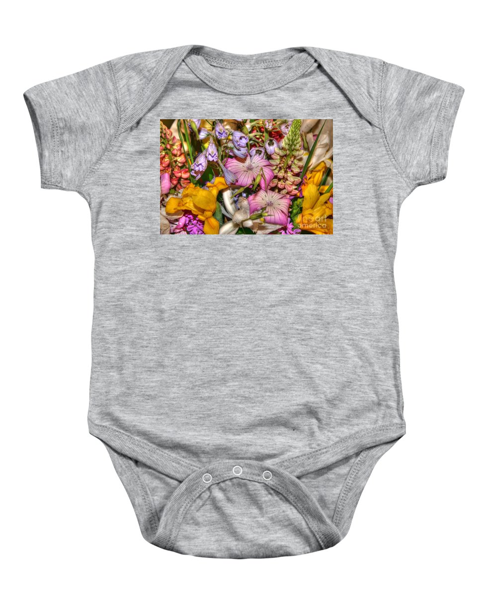 Flowers Baby Onesie featuring the photograph Honoring Valerie by Tap On Photo