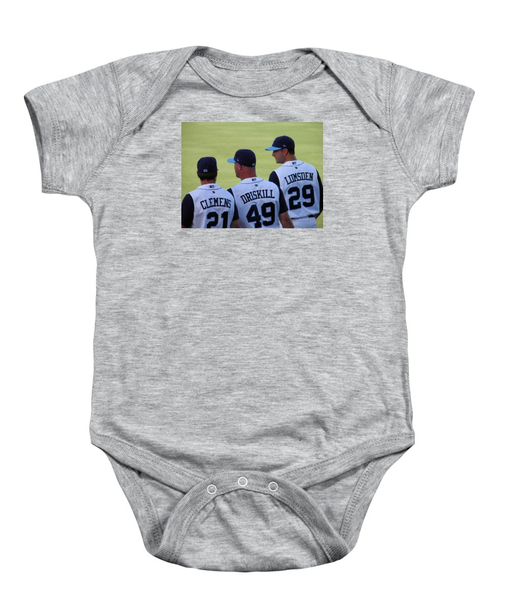 Hooks Baby Onesie featuring the photograph Hooks Players by Sandra Vasko